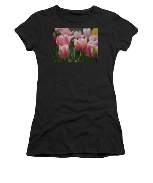 Women's T-Shirt (Junior Cut) featuring the photograph Pink Spring by Penny Lisowski