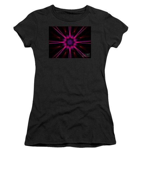 Pink Starburst Fractal  Women's T-Shirt