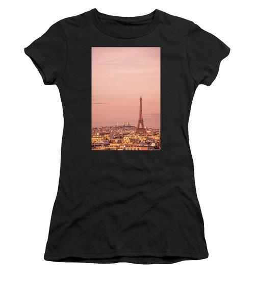 Pink Sunset In Paris Women's T-Shirt