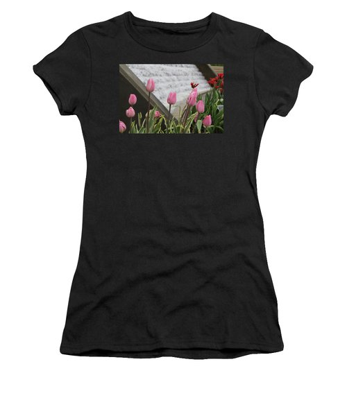 Pink Tulips Women's T-Shirt