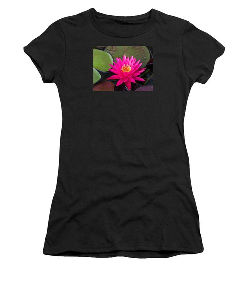 Pink Waterlily Garden Women's T-Shirt (Athletic Fit)