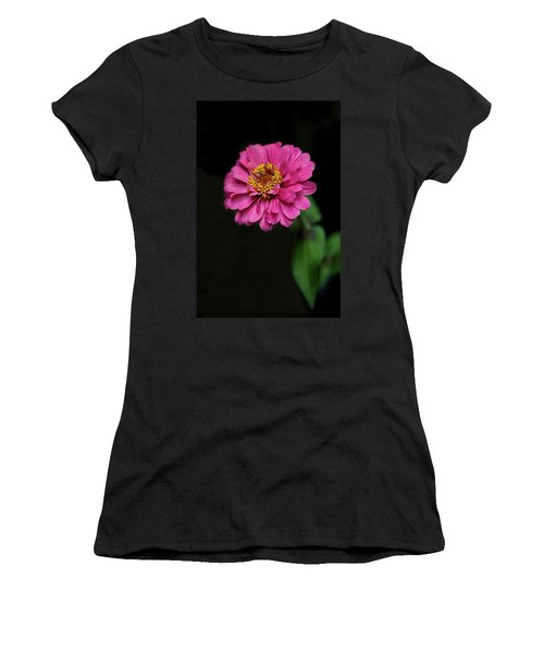 Pink Zinnia Women's T-Shirt (Athletic Fit)