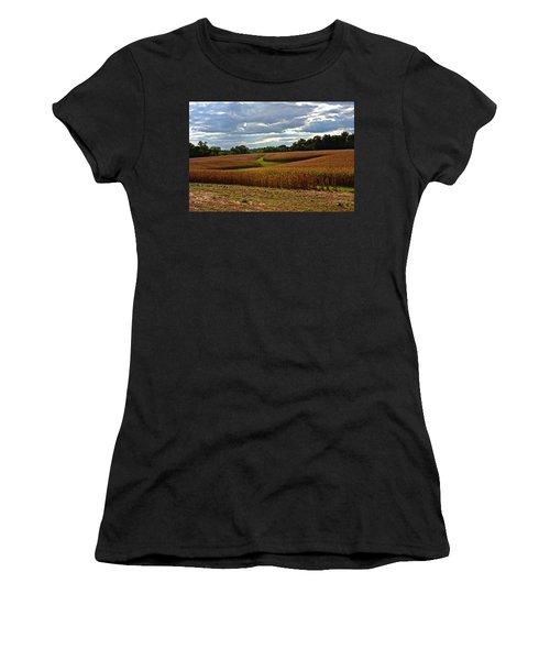 Pinwheel Cornfield Women's T-Shirt (Athletic Fit)