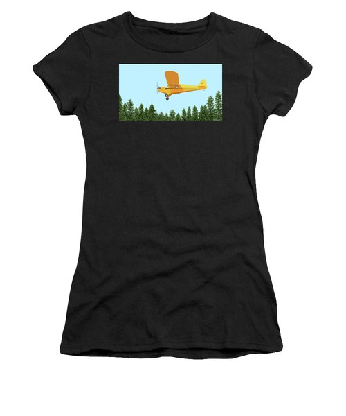 Piper Cub Piper J3 Women's T-Shirt (Athletic Fit)