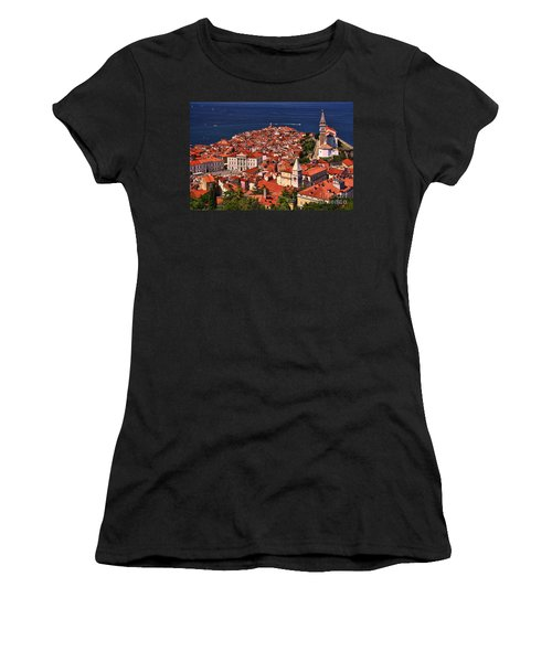 Piran From The Castle Wall Women's T-Shirt (Athletic Fit)