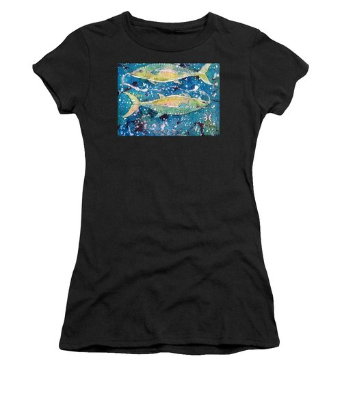 Women's T-Shirt featuring the painting Pisces by Ruth Kamenev