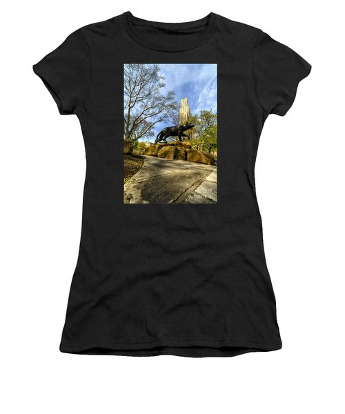 Pitt Panther Cathedral Of Learning Women's T-Shirt
