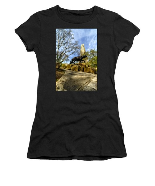 Pitt Panther Cathedral Of Learning Women's T-Shirt (Athletic Fit)