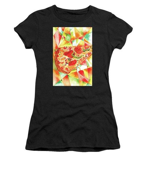 Pizza Pizza Women's T-Shirt (Athletic Fit)