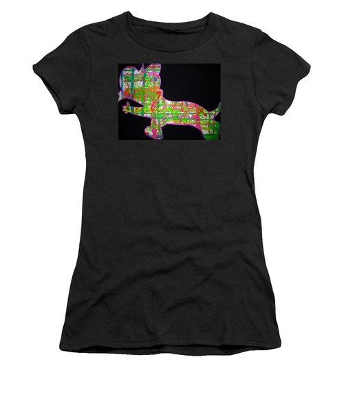 Plaid Women's T-Shirt (Athletic Fit)