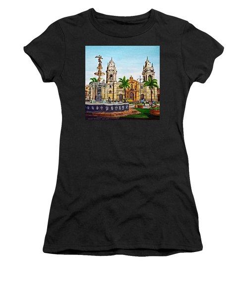 Plaza Armas, Cusco, Peru Women's T-Shirt (Athletic Fit)