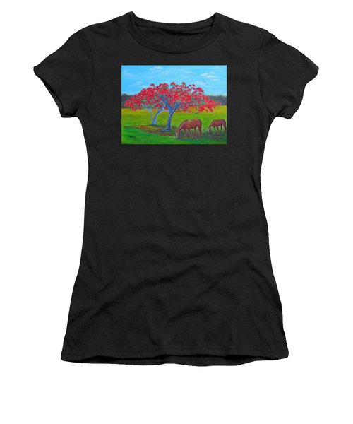 Pleasent Pastures Women's T-Shirt (Athletic Fit)