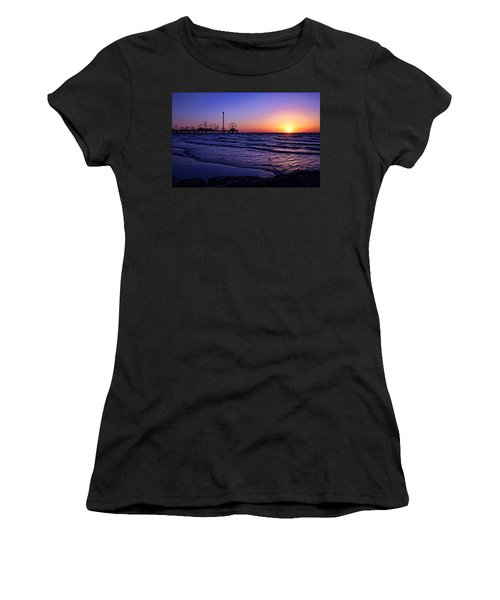 Pleasure Pier Sunrise Women's T-Shirt (Athletic Fit)