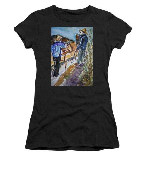 Plein Air Painters - Original Watercolor Women's T-Shirt (Athletic Fit)