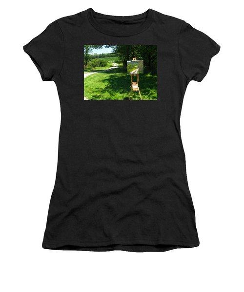 Plein Air Painter's Studio Women's T-Shirt (Athletic Fit)