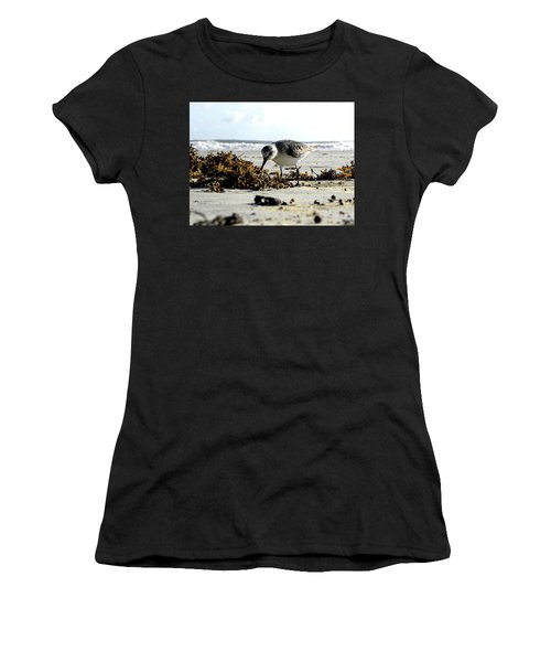 Plover On Daytona Beach Women's T-Shirt (Athletic Fit)