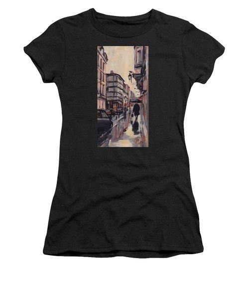 Pluie Rue De Regence Liege Women's T-Shirt