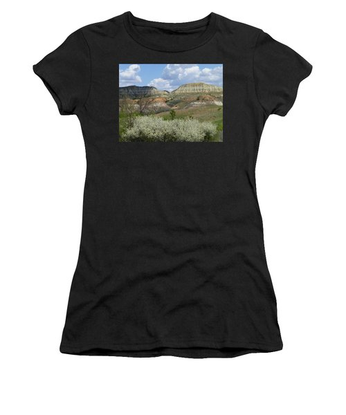 Women's T-Shirt featuring the photograph Plum Thicket Near The Burning Coal Vein by Cris Fulton