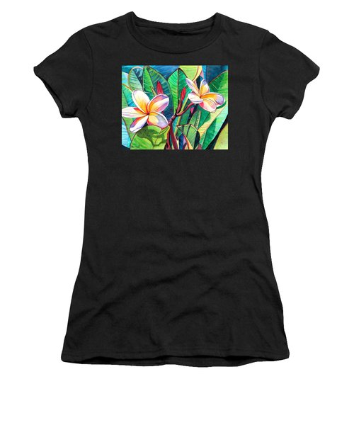 Plumeria Garden Women's T-Shirt