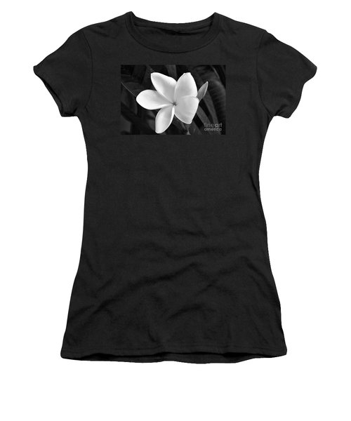 Plumeria In Monochrome Women's T-Shirt (Athletic Fit)