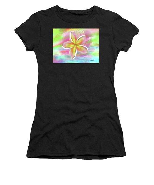 Plumeria Paradise Women's T-Shirt (Athletic Fit)