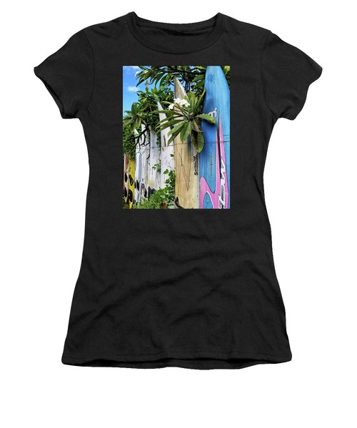 Plumeria Surf Boards Women's T-Shirt (Athletic Fit)