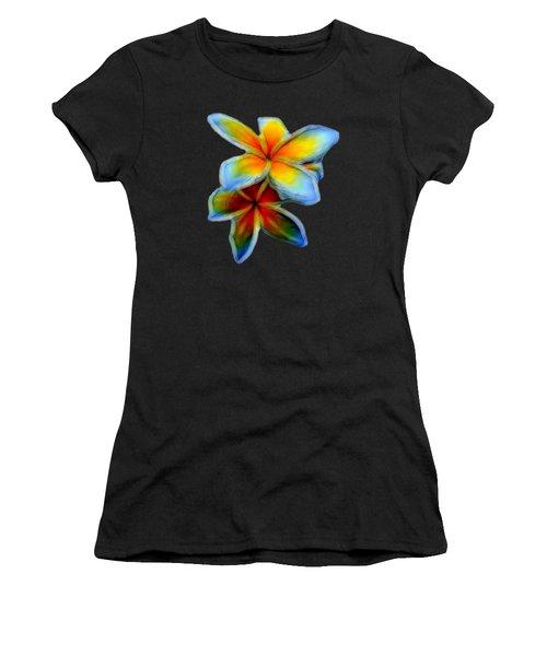 Plumerias Women's T-Shirt (Athletic Fit)