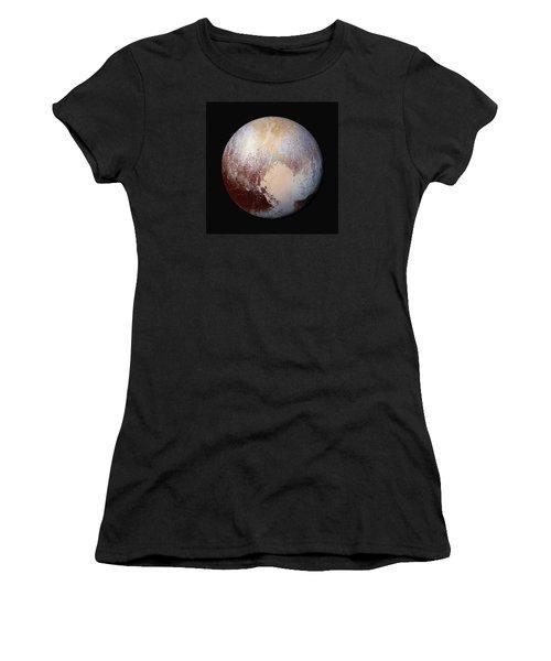 Pluto Dazzles In False Color - Square Crop Women's T-Shirt (Junior Cut) by Nasa
