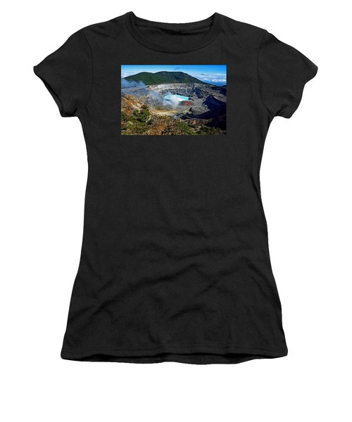 Poas Volcano Women's T-Shirt (Athletic Fit)
