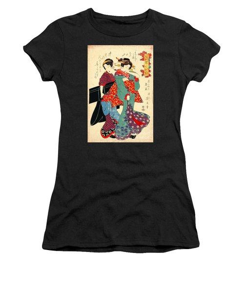Poet Komachi 1818 Women's T-Shirt (Junior Cut) by Padre Art