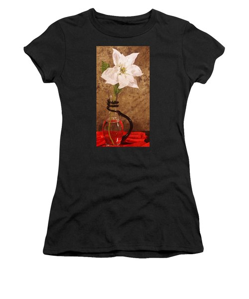 Poinsettia In Pitcher  Women's T-Shirt