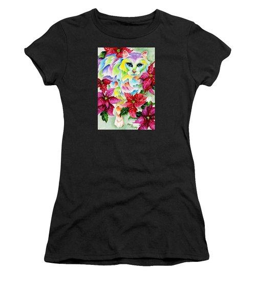Poinsettia Sweetheart Women's T-Shirt