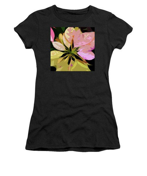 Poinsettia Tile Women's T-Shirt
