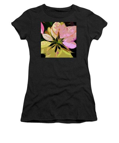 Poinsettia Tile Women's T-Shirt (Athletic Fit)