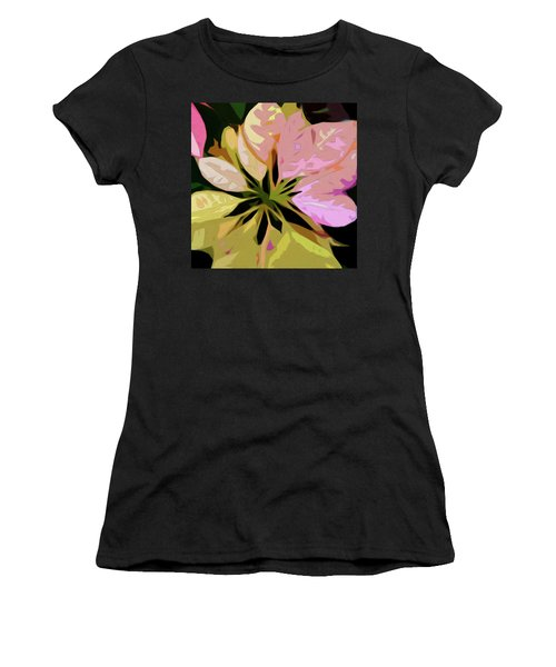 Poinsettia Tile Women's T-Shirt (Athletic Fit)