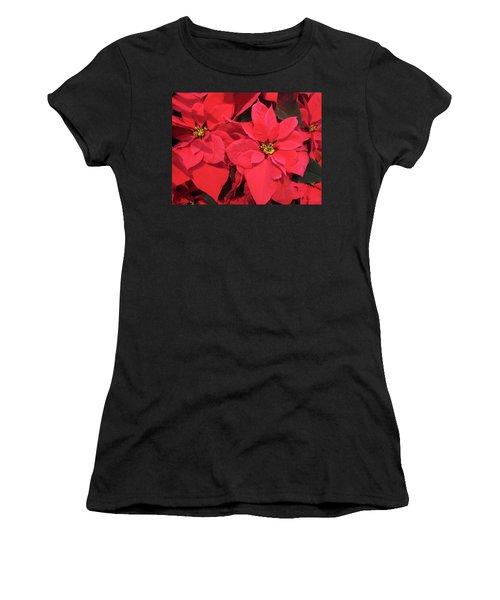 Poinsettias Women's T-Shirt (Athletic Fit)