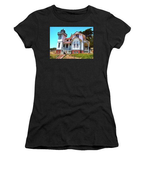 Women's T-Shirt (Junior Cut) featuring the photograph Point San Luis Lighthouse by Floyd Snyder