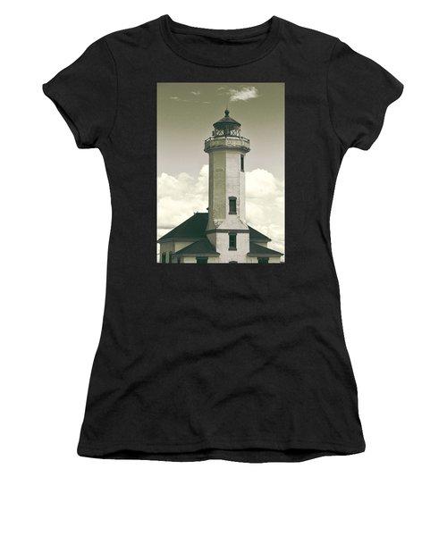 Point Wilson Lighthouse Sepia Women's T-Shirt