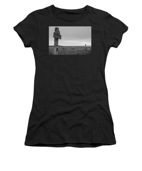 Women's T-Shirt (Athletic Fit) featuring the photograph Pointing The Way In 1960 by RKAB Works