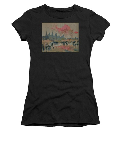 Pokkenweer Museum Square In Amsterdam Women's T-Shirt