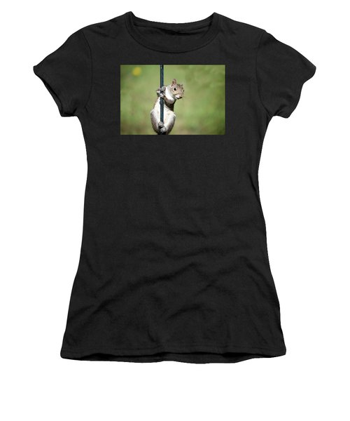 Women's T-Shirt (Athletic Fit) featuring the photograph Pole Dancer 283 by Ericamaxine Price