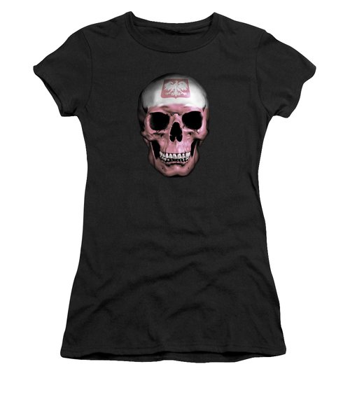 Women's T-Shirt (Junior Cut) featuring the digital art Polish Skull by Nicklas Gustafsson