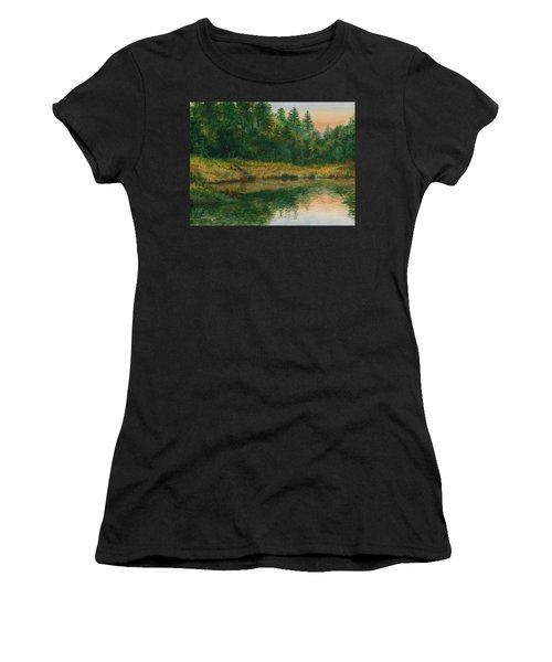 Pond With Spider Lilies Women's T-Shirt (Athletic Fit)