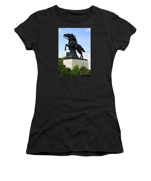 Pony Express Rider Women's T-Shirt (Junior Cut) by Linda Phelps