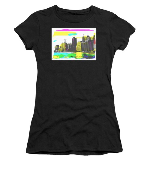 Pop City Skyline Women's T-Shirt (Athletic Fit)