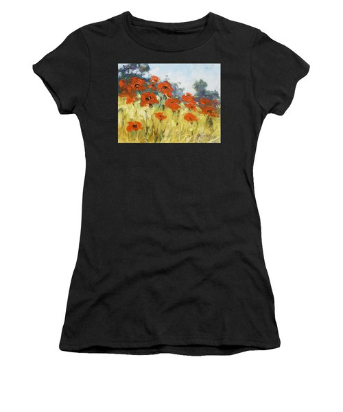 Poppies 3 Women's T-Shirt (Athletic Fit)
