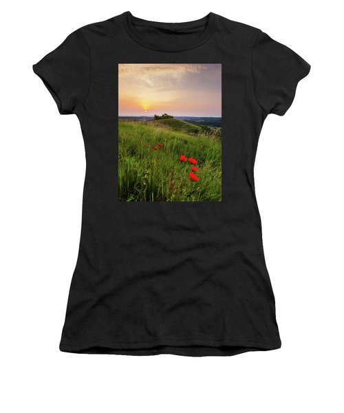 Poppies Burns Women's T-Shirt (Athletic Fit)