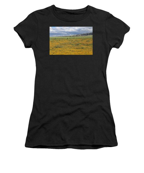 Poppies Field In Antelope Valley Women's T-Shirt (Athletic Fit)