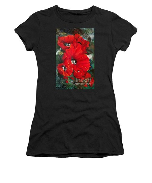 Poppies In Light Women's T-Shirt (Athletic Fit)