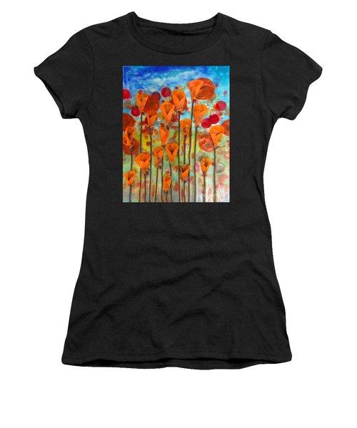 Poppies Make Me Happy Women's T-Shirt